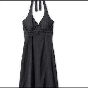 Athleta Pack Anywhere Halter Dress BLACK Sz XS
